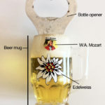 The W.A. Mozart Edelweiss Plastic Beer Mug Bottle-Opener Fridge Magnet